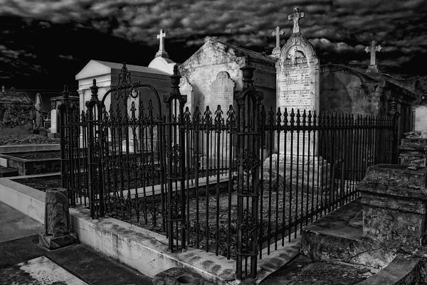Kathleen K Parker - Cemetery Landscape black and white