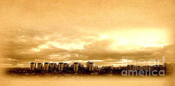 Yury Bashkin - City Autum Sky