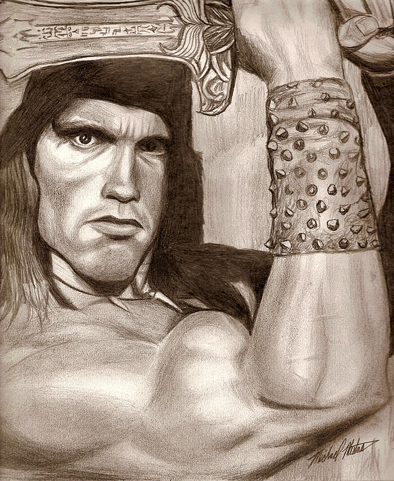 Conan the barbarian greeting card for sale by michael mestas bookmarktalkfo Image collections