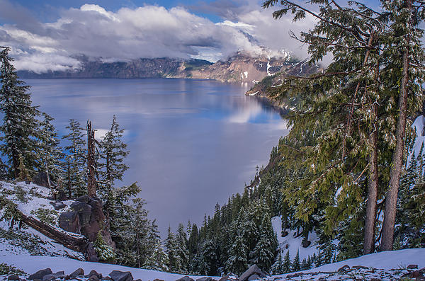 Greg Nyquist - Crater Lake and Approaching Clouds