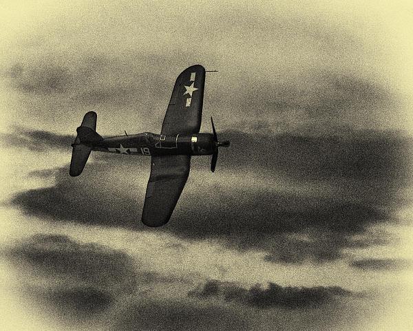 Roger Wedegis - F4U Corsair In Sepia