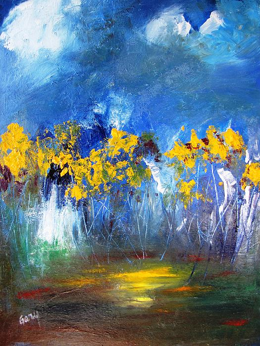 Gary Smith - Flowers of Maze in Blue