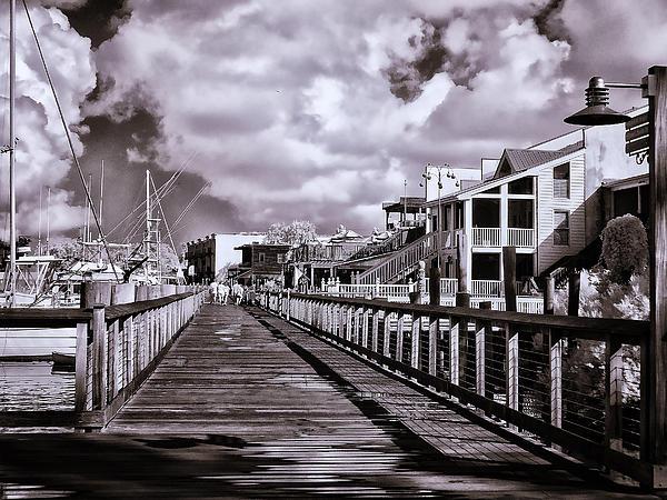 Bill Barber - Front Street Boardwalk - Infrared