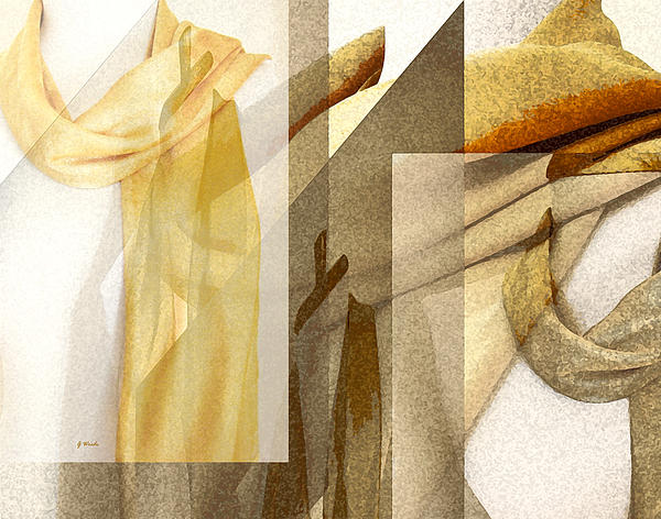 Gretchen Wrede - Golden Wheat Scarf Abstract