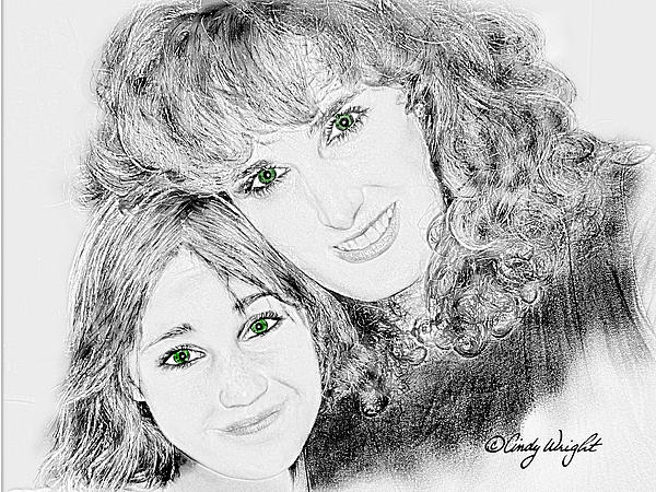 Cindy Wright - Green Eyed Mom and Daughter