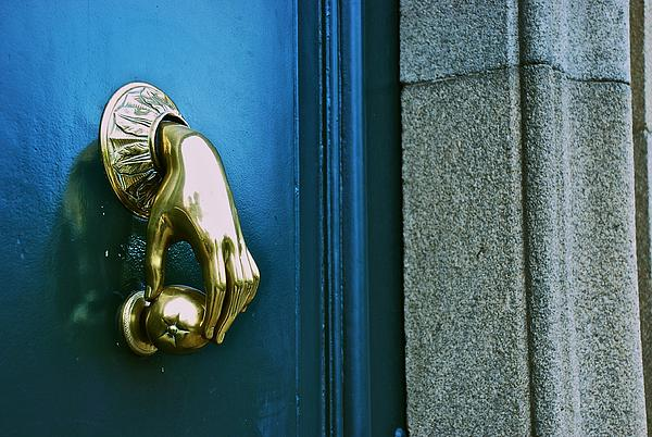 Gentil ... Hand Door Knocker By Eric Tressler. Boundary: Bleed Area May Not Be  Visible.