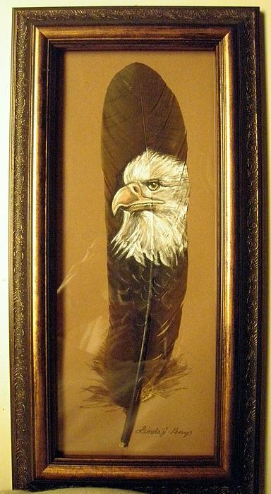 Linda Nielsen - Handpainted Feather - Eagle