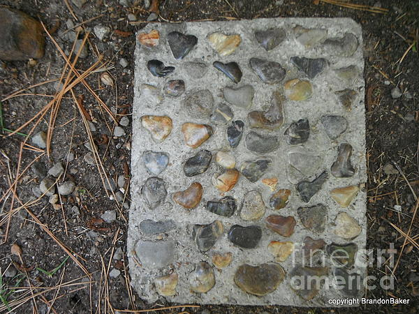 Lake Tahoe Dream - Heart Rock Step Stones