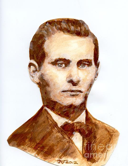 Vincent von Frese - Jesse James sketch