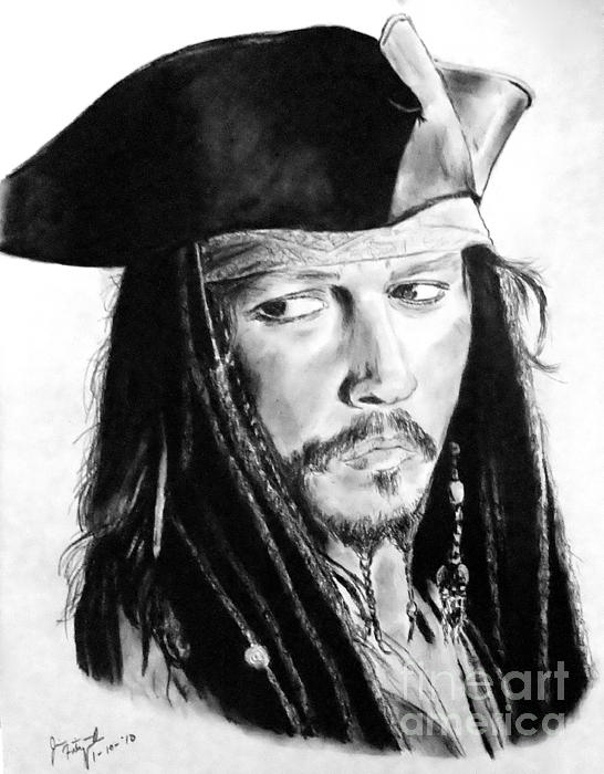 Jim Fitzpatrick - Johnny Depp as Captain Jack Sparrow in Pirates of the Caribbean