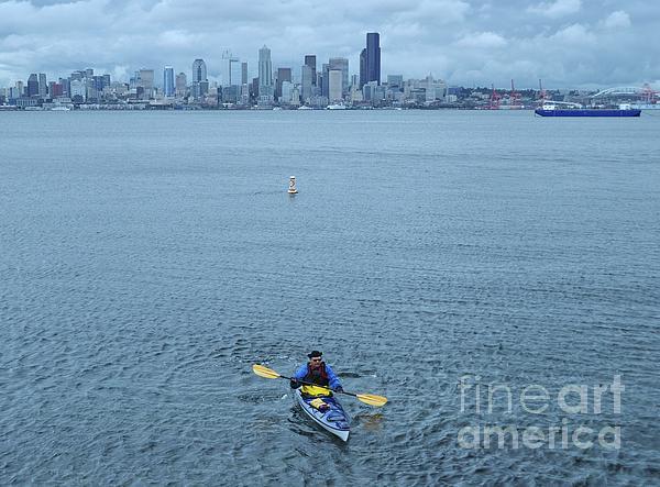 Allen Beatty - Kayaking Elliot Bay Seattle