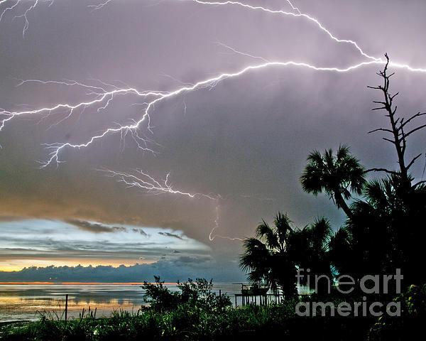 Stephen Whalen - Lightning Silhouette at Crystal Beach