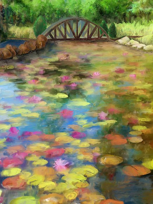Cindy Wright - Lily Pad Pond Painting