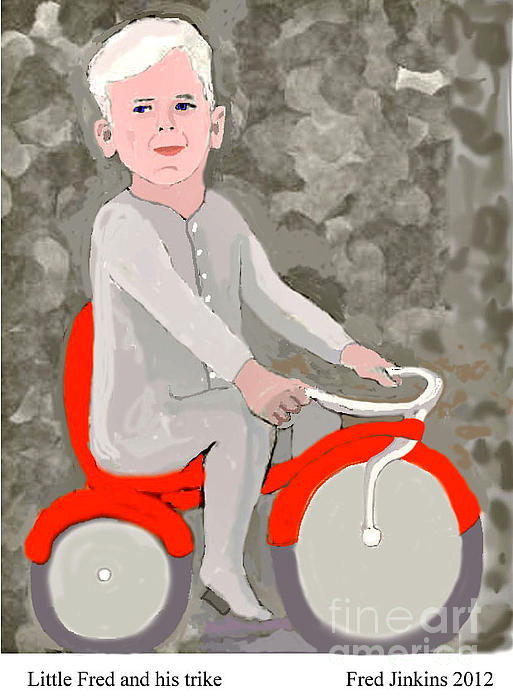 Fred Jinkins - Little Fred and his trike.