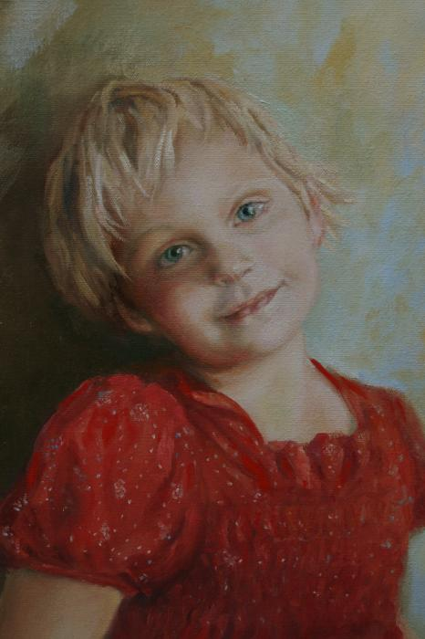 Dianne L Gardner - Little Girl in a Red Dress