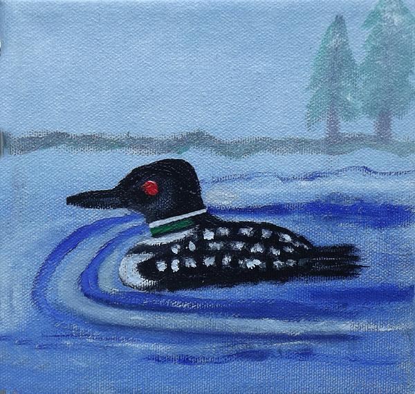 Margaret Harmon - Loon on Lake Winnipeaukee