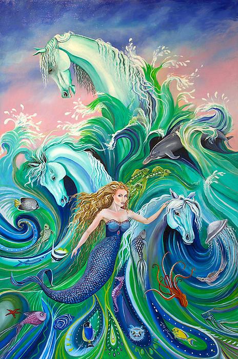 Nicole Ann OConnor - Mermaid and White Horses