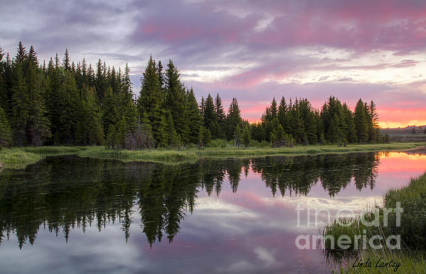 Idaho Scenic Images Linda Lantzy - Mirrored Dawn