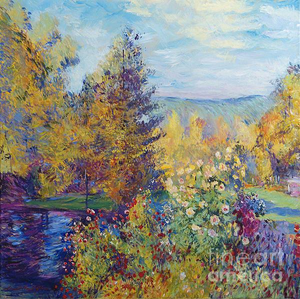 David Lloyd Glover - Montgeron  Garden Sur les Traces de Monet