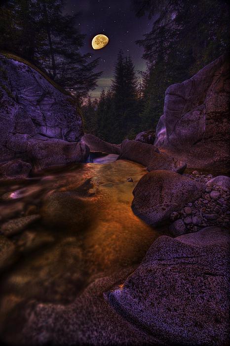 Doug Keech - Moon Over Humphrey Falls