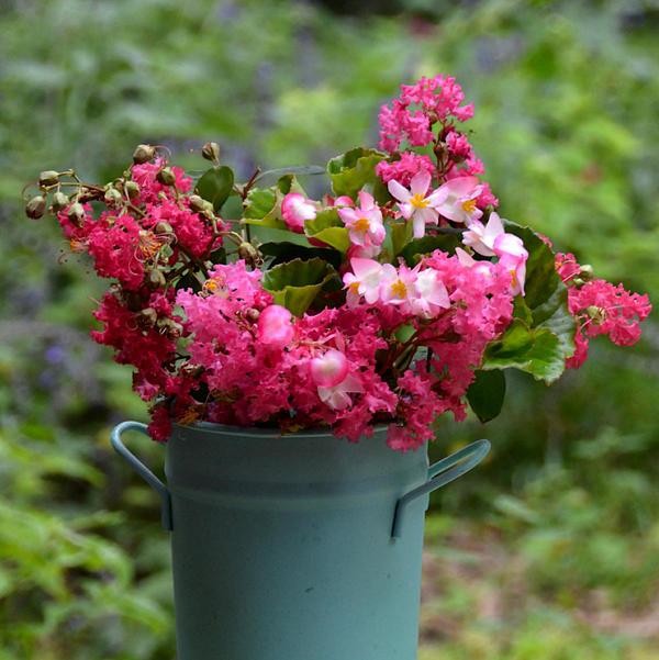 Carla Parris - Painted Bucket of Flowers