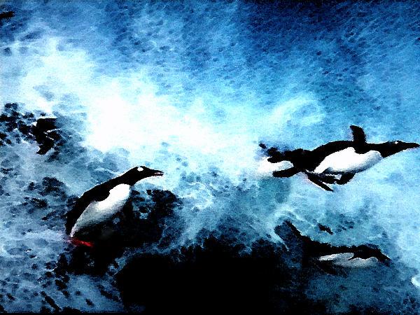 Colette V Hera  Guggenheim  - Penquin Joy Play  in Huge Waves