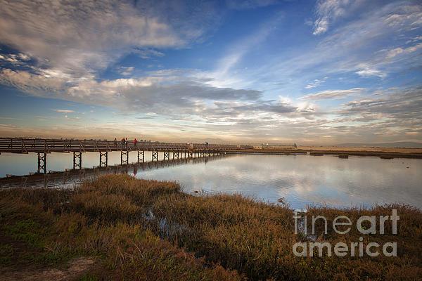 Susan Gary - Photographers on Bridge at Sunset
