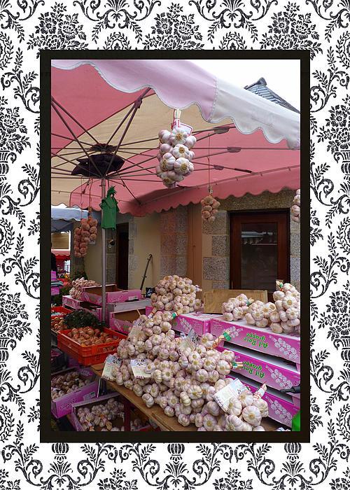 Carla Parris - Pink Umbrella and Garlic with border