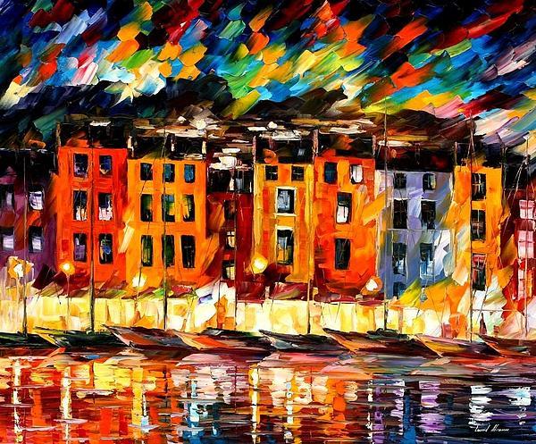 Leonid Afremov - Portofino  -  Liguria  Italy