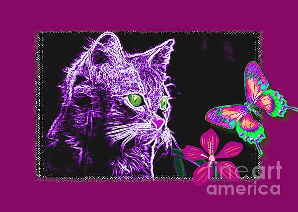 Tisha McGee - Purple Kitten