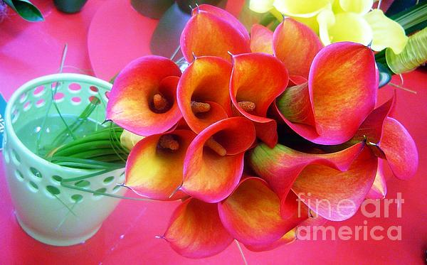 AmaS Art - Red Calla Lilies
