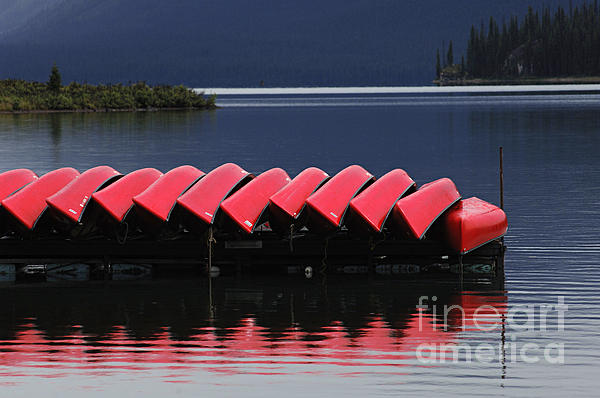 Bob Christopher - Red Canoes Maligne Lake