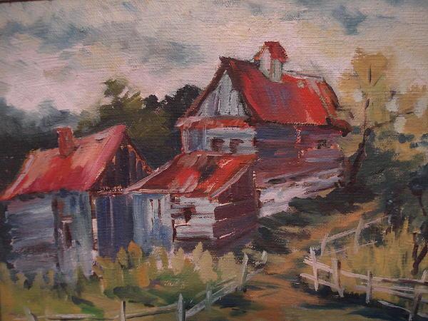 Natalia Bardi - Red roofs- Acoperisuri rosii la Jina