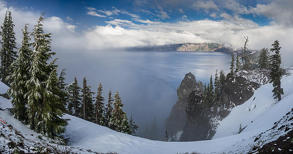 Greg Nyquist - Rising Mists from Crater Lake Panorama
