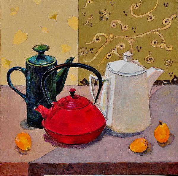 Liubov Meshulam Lemkovitch - Still life with teapots