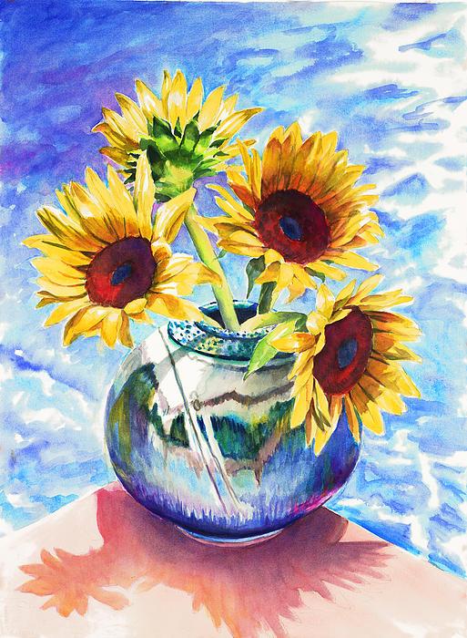 Nancy Tilles - Sunflowers Sunbathing