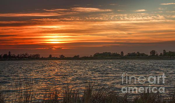 Robert Bales - Sunset at Sawyer Pond