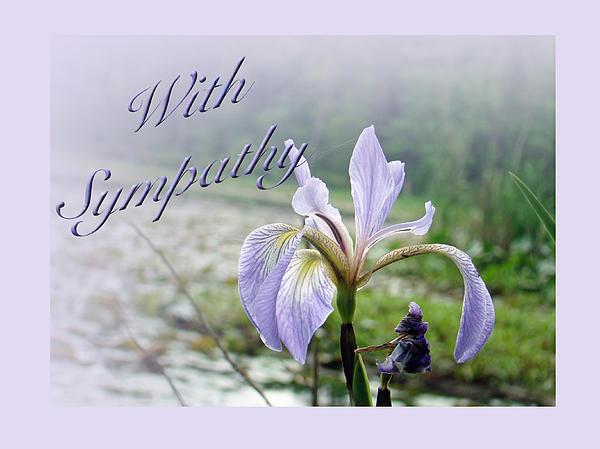 Mother Nature - Sympathy Greeting Card - Wild Blue Flag Iris