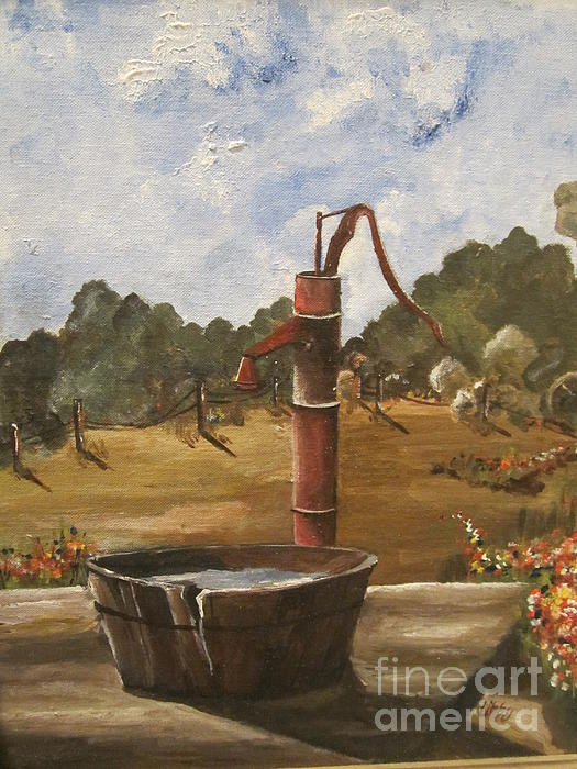 Elizabeth Reed - The Old Water Pump on the Farm