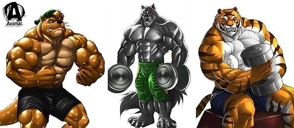 Logan Hipolito - The three anthro titans of muscle