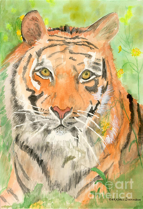 Delores Swanson - Tiger in the Meadow