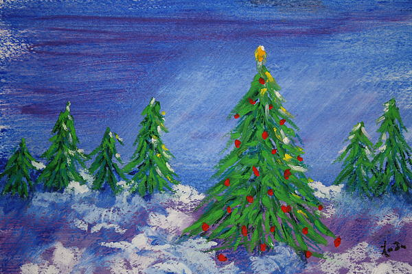 Linda Wilson Eversole - Twilight trees