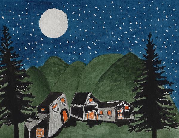 Connie Valasco - Village at Night