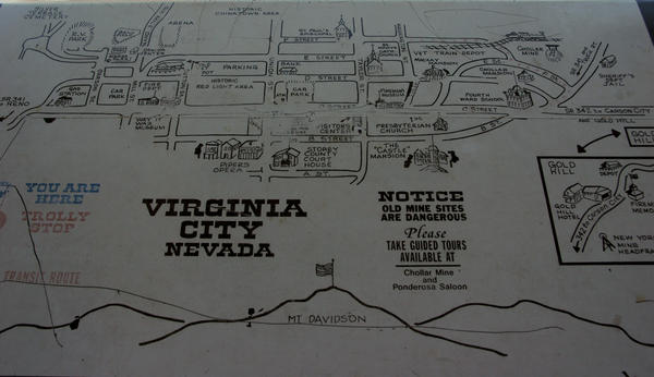 Virginia City Nevada Map Tote Bag For Sale By Leeann Mclanegoetz: Map Of Virginia City Nevada At Slyspyder.com