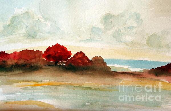 Julie Lueders  - Watercolor bay