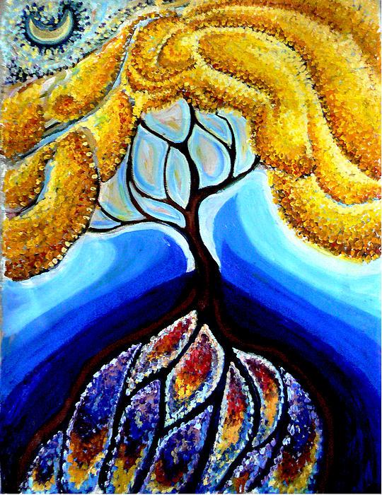 Helen Duley - Wattle or Acacia Tree and Deep Rainbow pool