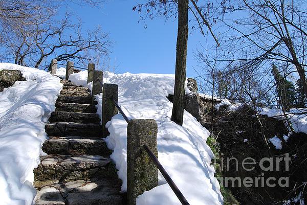 Alexandra Jordankova - Winter Scene of San Marino Castles  Pathway