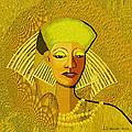 189 Metallic Woman Golden Pearls by Irmgard Schoendorf Welch