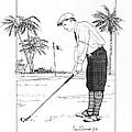 1920's Vintage Golfer by Ira Shander