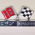 427 Turbo Jet Corvette Emblem by Donna Wilson